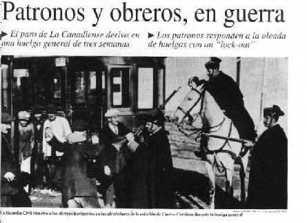 """""""Recuerda La Canadiense: trabajas 8 horas gracias a la lucha de esos trabajadores"""" - texto publicado por la Coordinadora de Informática de CGT Huelga"""